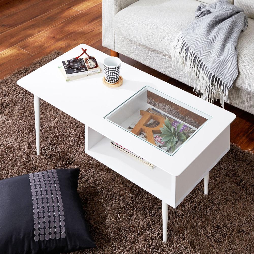 かわいい女子のモテ部屋の必需品は、白くてセンスの良いローテーブルのサムネイル画像