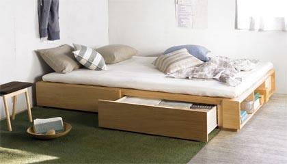 一石二鳥で大助かり!収納付きベッドでデッドスペースを有効活用!のサムネイル画像