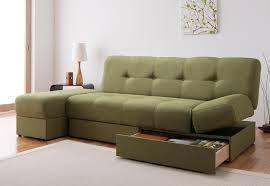 ソファーベッドに収納もついて1台3役!座って寝て収納できてお得!のサムネイル画像