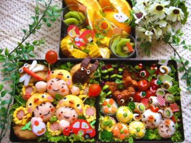 100均で買える便利グッズを使って作る!!簡単可愛いお弁当♡のサムネイル画像