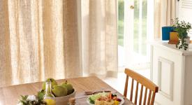 自然が一番!カーテンをナチュラル系でまとめてすっきりさせよう!のサムネイル画像