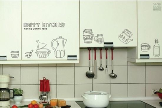 ウォールステッカーでキッチンが変身!手軽で簡単で人気です♪のサムネイル画像