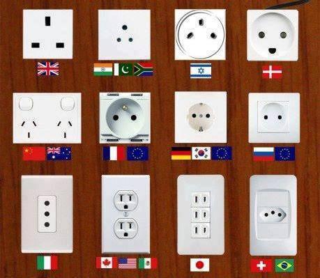 海外に行くときは、コンセントに気をつけましょう。日本と違います!のサムネイル画像