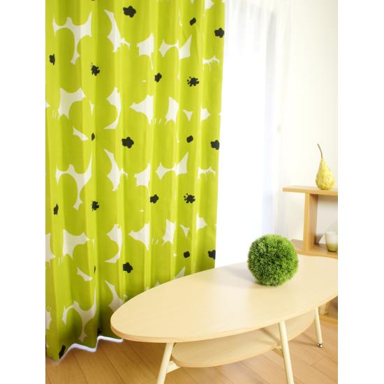 【癒しの色】グリーンのカーテンでリラックスできるお部屋に!のサムネイル画像