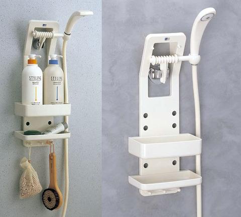 お風呂の小物を収納するため、ラックを使って、整理してください!のサムネイル画像