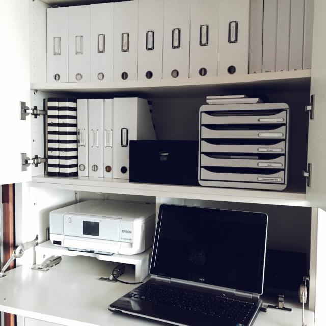 pc収納におすすめのパソコン収納デスクとパソコン収納ケース♪のサムネイル画像
