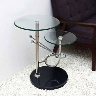 モダンな空間を演出!!ガラス製サイドテーブルをご紹介します✩のサムネイル画像