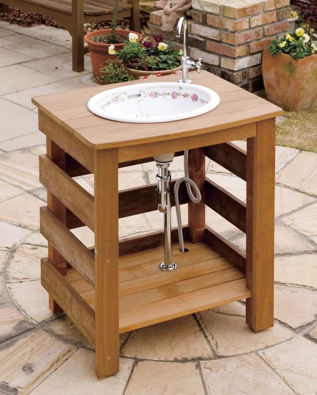 おしゃれなガーデニング流し台をお庭にチョイスしてみませんか♪のサムネイル画像