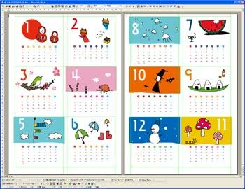 今年はオリジナルのカレンダー を手作りで作成してみませんか?のサムネイル画像
