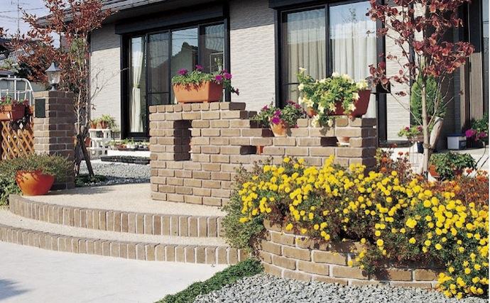 レンガ敷きの庭っていいな!あこがれの洋風ガーデンをお宅にも♪のサムネイル画像