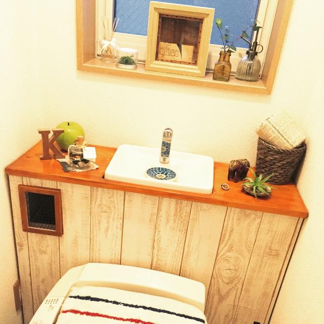 【真似したい】いつものトイレを素敵に飾りつけておしゃれ空間にのサムネイル画像