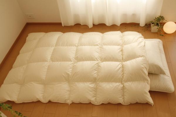 暖かくてふわふわ~な羽毛布団 きちんとお手入れしていますかのサムネイル画像