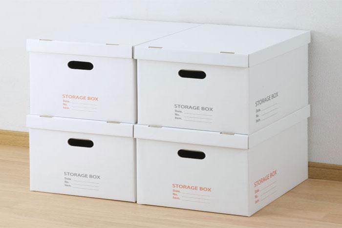 ダンボールBOXを使った収納でお部屋を素敵にしてみませんか?のサムネイル画像