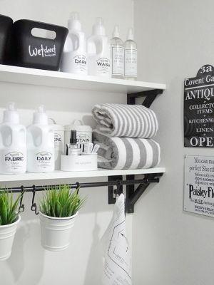 散らかった洗面所にサヨナラ!これですっきり洗面所の収納棚特集!の画像