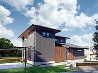 シンプルでモダンな印象の住宅におすすめの外壁塗装色グレーのサムネイル画像