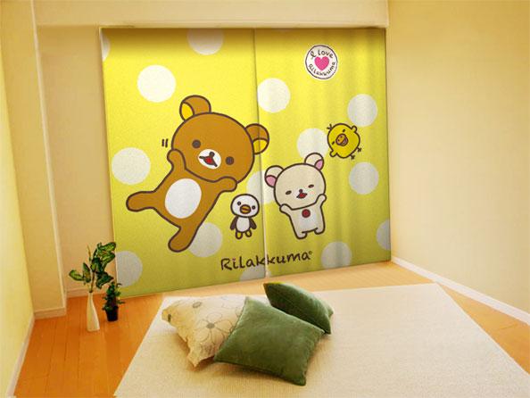 キャラクター柄のカーテンで、お部屋を可愛く模様替えしましょうのサムネイル画像