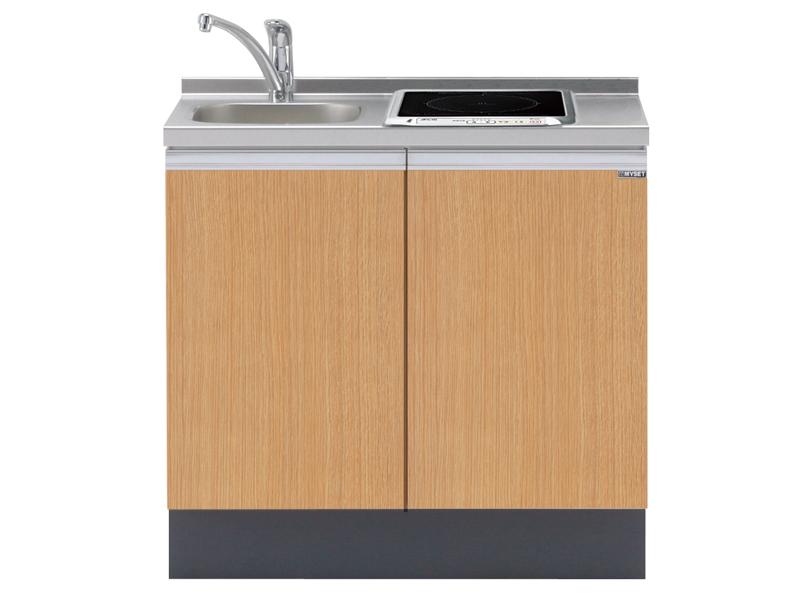 狭くてコンパクトなキッチンスペースが、お洒落に可愛く大変身。のサムネイル画像