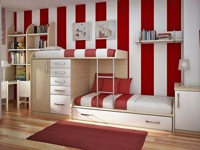 二段ベッドでおしゃれな部屋!大人でも使える機能的ベッド!のサムネイル画像