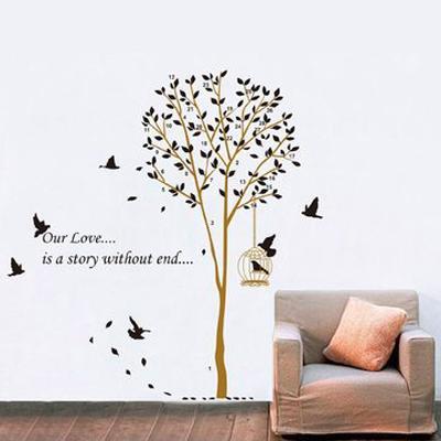 まるでアート!かわいいウォールステッカーで壁をデコしませんか?のサムネイル画像