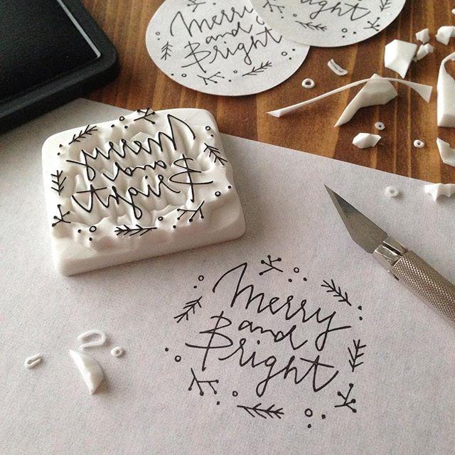 【クリスマスカード】オリジナルはんこを作成しよう【年賀状】のサムネイル画像