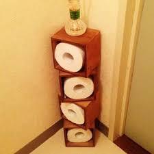 トイレも美しく清潔に・・・☆トイレットペーパーのオシャレ収納!のサムネイル画像
