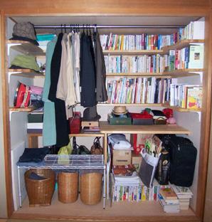 押入れのデッドスペースを埋める押入れ収納、本を仕舞う本棚収納にのサムネイル画像