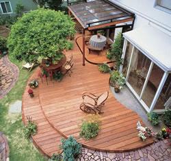 自宅にウッドデッキをリフォームしたらすてきなお庭になった♡事例集のサムネイル画像