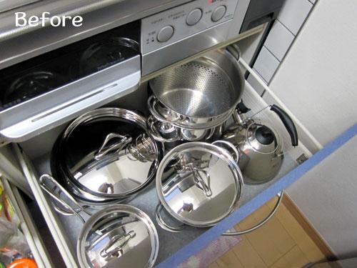 キッチン収納の悩み解決!鍋・フライパン・フタすっきり収納術のサムネイル画像