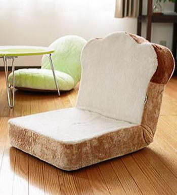 見てるだけでもお腹ペコペコ!キュートすぎる食パンの座椅子のサムネイル画像