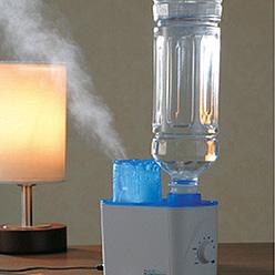 乾燥の時期!ペットボトルのスチーム式加湿器を上手に使いましょう。のサムネイル画像