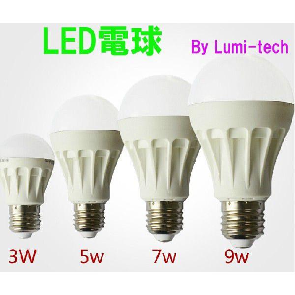 LED電球は、白熱電球や蛍光灯電球にくらべて、省エネで長寿命です。のサムネイル画像