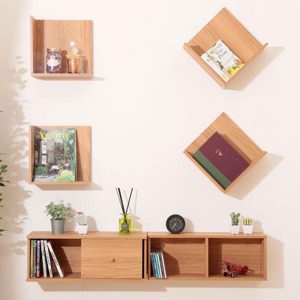 壁面をホッチキス棚でおしゃれに!自由にホッチキス棚収納をのサムネイル画像