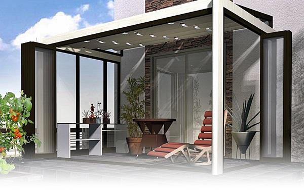 家屋から付きだしているテラスを、エクステリアとしてデザイン。のサムネイル画像