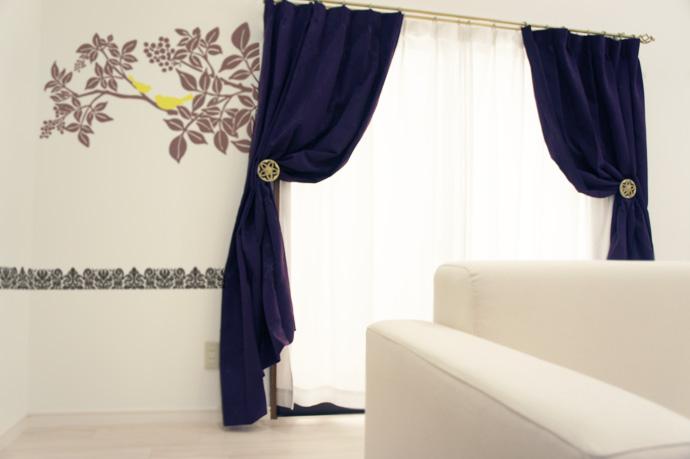 個性的なカーテンホルダーを使いこなして、コーディネート上級者に!のサムネイル画像