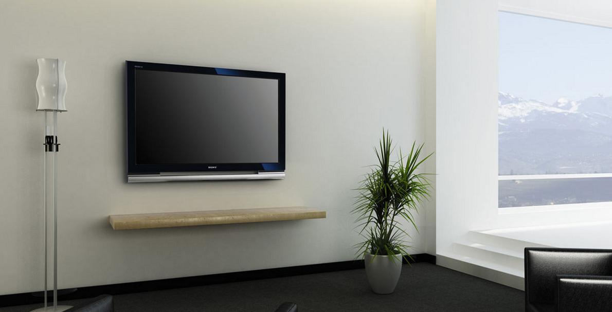 液晶テレビが普及して、壁掛けテレビのスタイルも多くなりました。のサムネイル画像