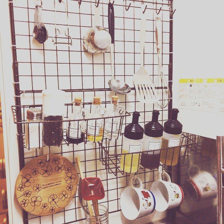 【組立、自由自在!】ワイヤーネットを使って、素敵なキッチン作りにトライ!のサムネイル画像
