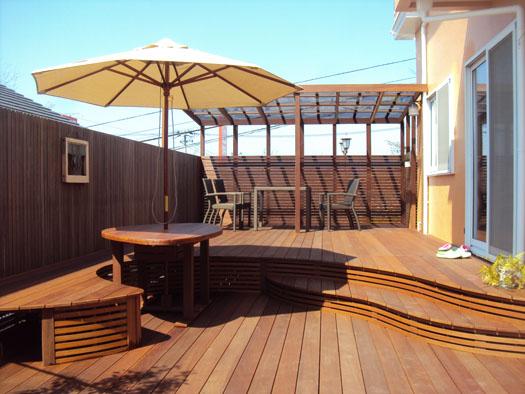 【必読】ウッドデッキと階段で我が家と庭をお洒落に演出!!のサムネイル画像