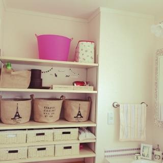 毎日使う風呂場・洗面所だからこそ、オシャレな棚をチョイス☆のサムネイル画像