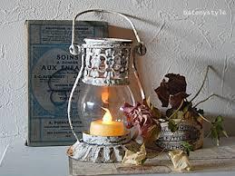 ベランダに置けるLEDライトを使ったブロカント風のランタンをご紹介のサムネイル画像