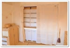 使い勝手◎見栄えも◎押入れのふすまをカーテンにするとおしゃれにのサムネイル画像
