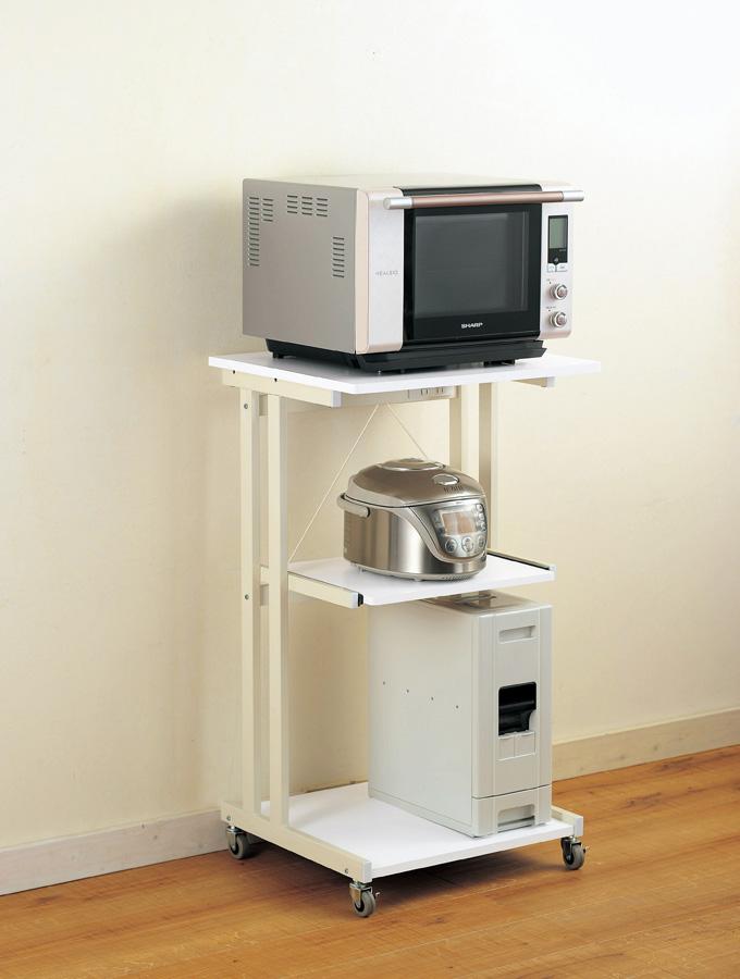 台所の、炊飯器の置く場所に困りませんか?ラックがあります。のサムネイル画像