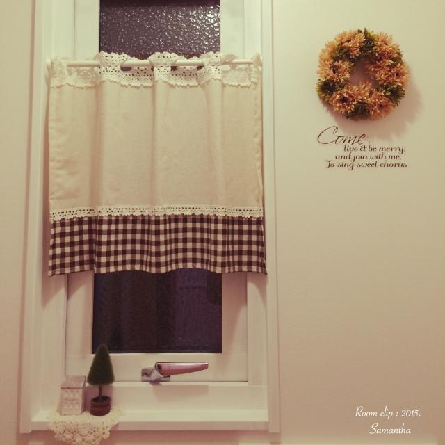 可愛くおしゃれにカフェカーテンで目隠し♪♪使い方は無限!!のサムネイル画像