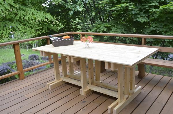 【diy】ウッドデッキ用のテーブルも簡単diyで!!!【ウッドデッキ】のサムネイル画像