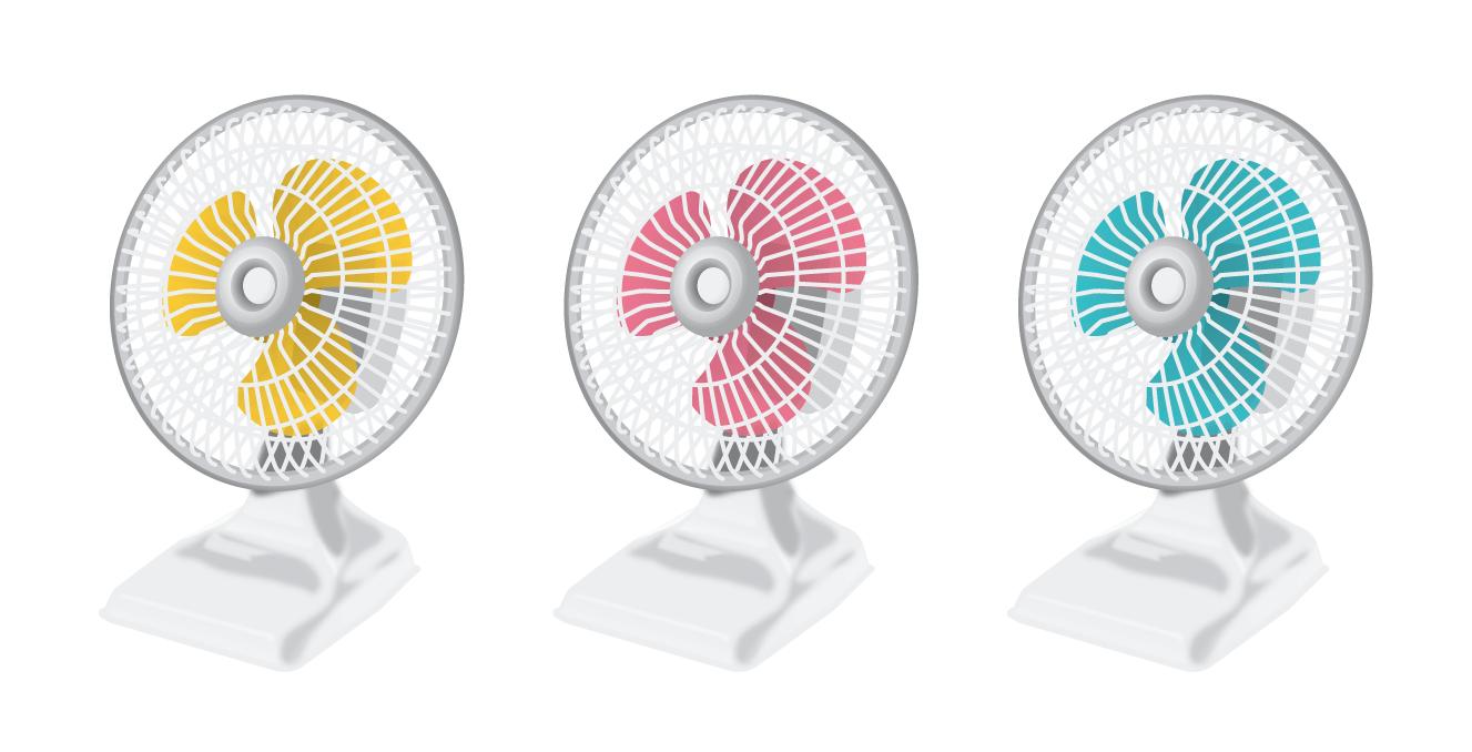 暑い夏の必需品!扇風機に関するイラストを色々集めました!のサムネイル画像