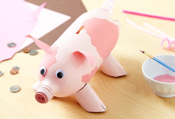 子どもと一緒に作りたい!かわいくて簡単な貯金箱の工作アイデアのサムネイル画像