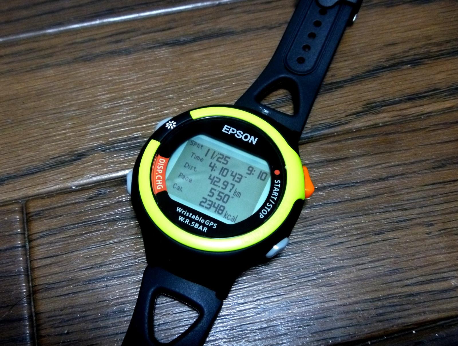 GPS付の時計があります。山歩きやマラソンで、利用すると便利です!のサムネイル画像