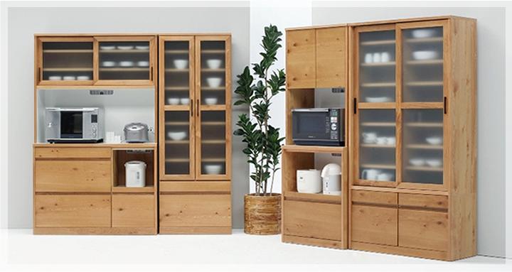 キッチンに欠かせない食器棚。食器棚がおしゃれだと料理も断然楽しいのサムネイル画像