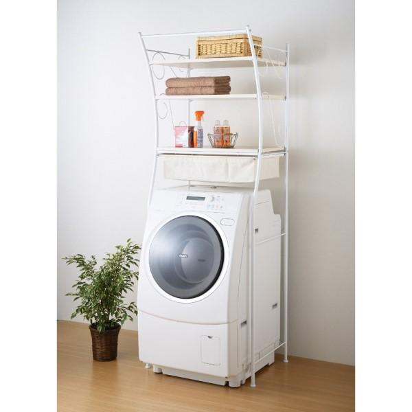 収納力アップ!!便利な洗濯機ラックで洗濯機周りをすっきり♪のサムネイル画像