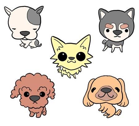 かわいいチワワ・トイプードル・柴犬・パグのイラスト素材集!のサムネイル画像