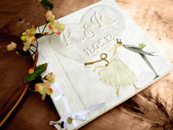 【手作りゲストブック】おしゃれなゲストブックで手作りウエディングのサムネイル画像